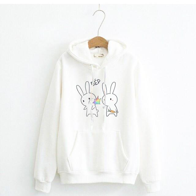ao hoodie trang